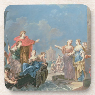 The Departure of Aeneas Drink Coaster