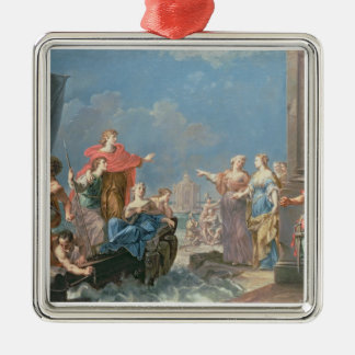 The Departure of Aeneas Metal Ornament