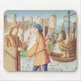 The departure of Aeneas Mouse Pad