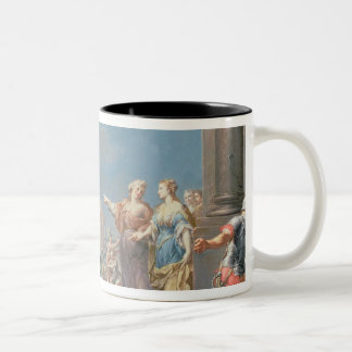 The Departure of Aeneas Two-Tone Coffee Mug