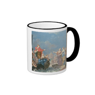 The Departure of Aeneas Ringer Coffee Mug