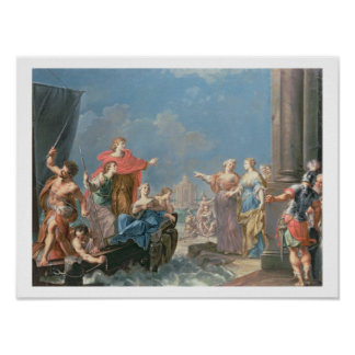 The Departure of Aeneas Poster