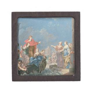 The Departure of Aeneas Premium Trinket Boxes
