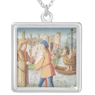 The departure of Aeneas Silver Plated Necklace