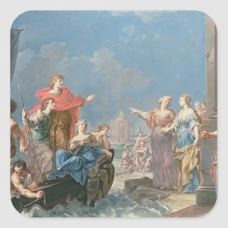 The Departure of Aeneas Square Sticker