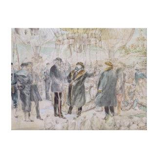 The Departure of Leon Michel Gambetta Gallery Wrap Canvas