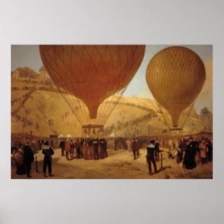 The Departure of Leon Michel Gambetta Print