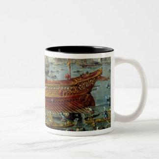 The Departure of the 'Bucentaur' Two-Tone Coffee Mug