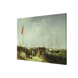 The Departure of the Steam Packet at Boulogne Canvas Print