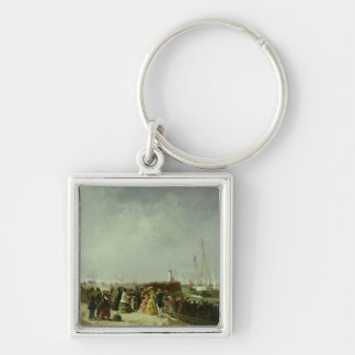 The Departure of the Steam Packet at Boulogne Silver-Colored Square Keychain