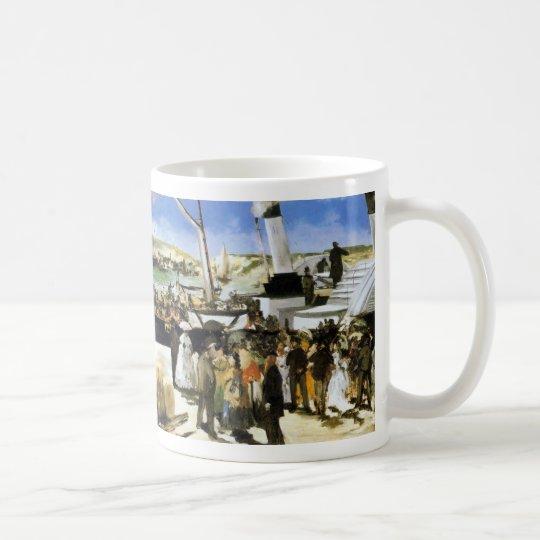 The Departure of the vapor of Folkestone - Manet Coffee Mug