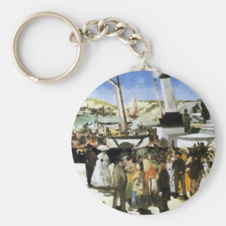 The Departure of the vapor of Folkestone - Manet Keychain