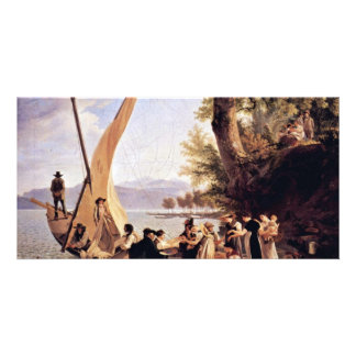The Departure Of The Wedding Party By Toepffer Photo Greeting Card