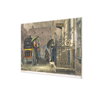 The Departure, plate from 'Poetical Sketches of Sc Canvas Print
