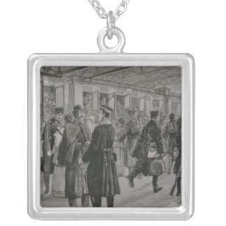 The Deployment of Kiel's Royal Marines Silver Plated Necklace