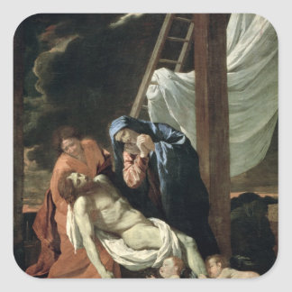 The Deposition, c.1630 Square Sticker