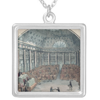 The Deputies of the Commune Meeting Silver Plated Necklace
