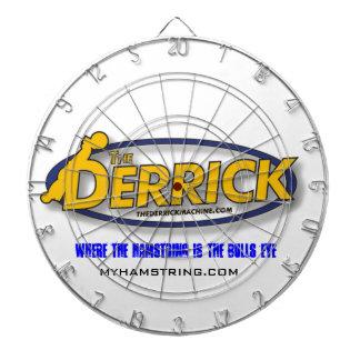 The Derrick machine Hamstring development Muscle Dartboard With Darts