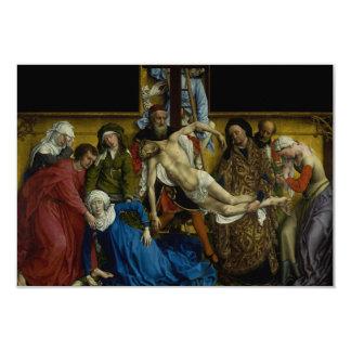 The Descent from the Cross Rogier van der Weyden 3.5x5 Paper Invitation Card