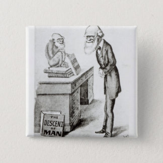 The Descent of Man Pinback Button