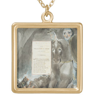 The Descent of Odin, An Ode, from 'The Poems of Th Square Pendant Necklace