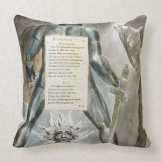 'The Descent of Odin', design 81 from 'The Poems o Throw Pillow