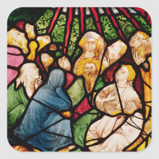 The Descent of the Holy Spirit, c.1400 Square Sticker