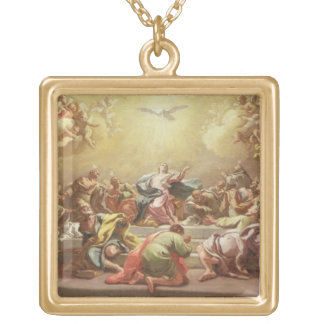 The Descent of the Holy Spirit Gold Plated Necklace