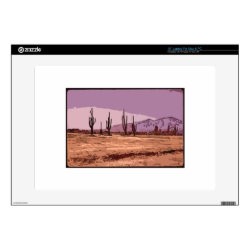 "THE DESERT MAGNIFICIENT 15"" LAPTOP DECAL"