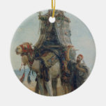 The Desert Ride, 1839 (w/c on paper) Christmas Tree Ornaments