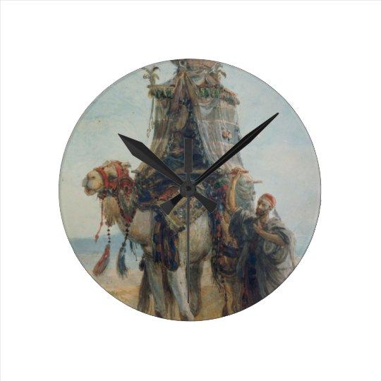 The Desert Ride, 1839 (w/c on paper) Round Clock