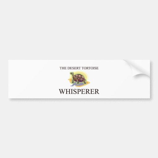 The Desert Tortoise Whisperer Bumper Sticker