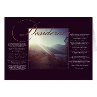 The Desiderata | Inspirational Poem about Life Greeting Card