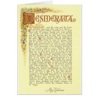 The Desiderata Poem by Max Ehrmann Card
