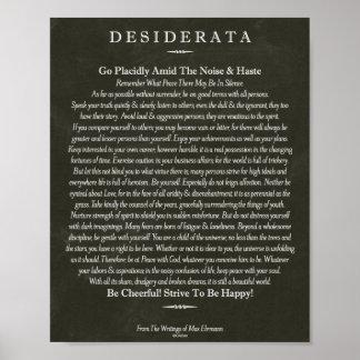 The Desiderata Poem by Max Ehrmann Chalk Art Poster