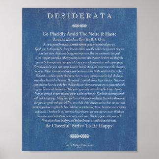 The Desiderata Poem by Max Ehrmann Denim Art Poster