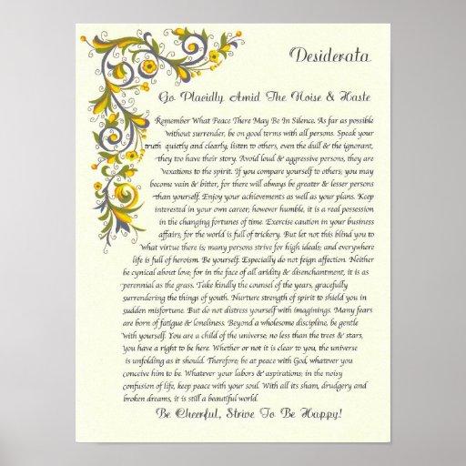 graphic relating to The Desiderata Poem Printable named Printable Desiderata Print Desiderata Poem Max Ehrmann - Www