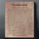 """The Desiderata Poem on The Red Planet Stone Plaque<br><div class=""""desc"""">The Desiderata Poem was written by Max Ehrmann. It is an Inspirational Message to share with Friends &amp; Family in these troubling times. Be sure to visit my Zazzle Shop to see all the rest of My DESIDERATA designs. I have the largest selection in the world. Even if You don&#39;t...</div>"""