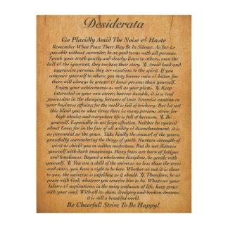 The Desiderata Poem on Wood Plank Wood Wall Art