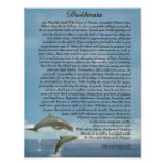 The Desiderata Poem with Playing Dolphins Poster