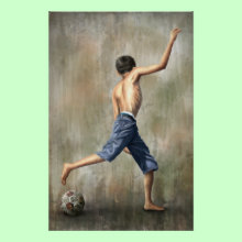 The Desire Soccer Art by Jackie Liao - Print