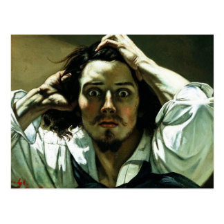 The Desperate Man by Gustave Corbet Postcard