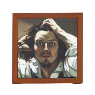 The Desperate Man by Gustave Courbet Desk Organizer