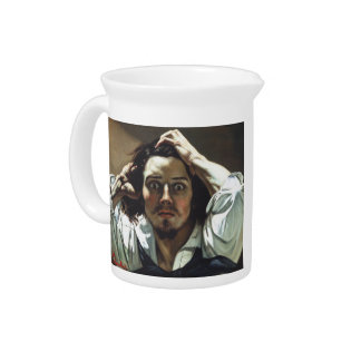 The Desperate Man by Gustave Courbet Drink Pitcher