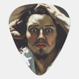 The Desperate Man by Gustave Courbet Guitar Pick