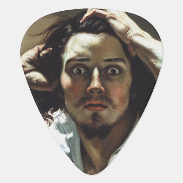 The Desperate Man By Gustave Courbet Guitar Pick Zazzle Com Misunderstood's chattanooga lucy left off, walking in with a bit of desperate man, produced by jay joyce, will be released for free to members of church's fan club. the desperate man by gustave courbet guitar pick zazzle com