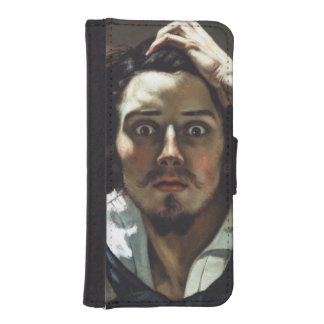 The Desperate Man by Gustave Courbet iPhone 5 Wallet Cases