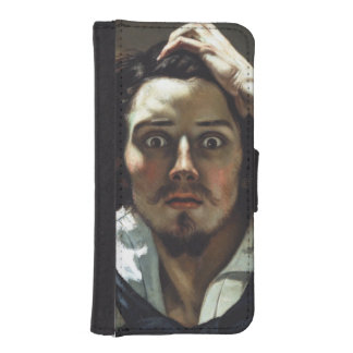 The Desperate Man by Gustave Courbet Phone Wallets
