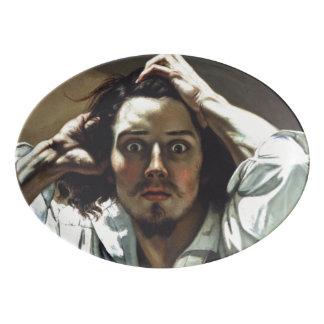 The Desperate Man by Gustave Courbet Porcelain Serving Platter