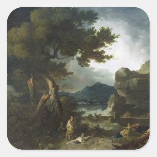 The Destruction of Niobe's Children, 1760 (oil on Square Sticker